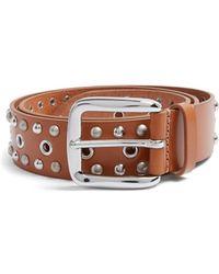 Isabel Marant - Rica Stud-embellished Leather Belt - Lyst