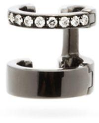 Repossi ベルベル ダイヤモンド 18kブラックゴールドイヤーカフ - メタリック