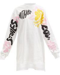 Marni スローガン コットンロングスリーブtシャツ - ホワイト