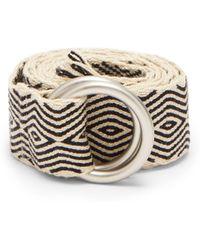 Guanabana - Diamond Patterned Woven Belt - Lyst