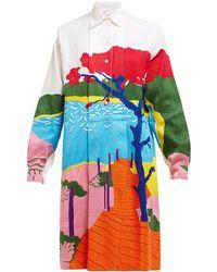 Kilometre Paris Notre-dame Embroidered Cotton Shirtdress - Multicolour