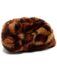 Gucci - Leopard Print Faux Fur Turban - Lyst