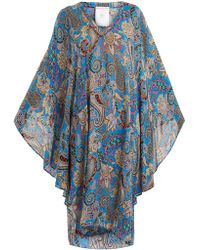 Etro | Abstract Paisley-print Crepon Kaftan | Lyst