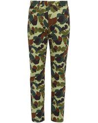 Junya Watanabe - Camouflage Print Slim Leg Jeans - Lyst