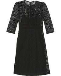 Burberry Prorsum - Contrasting-Lace Shift Dress - Lyst