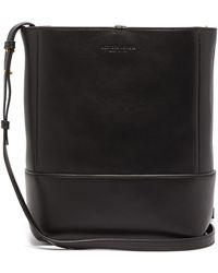 Bottega Veneta Logo-debossed Leather Bucket Bag - Black