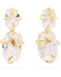 Ryan Storer Crystal-embellished Faux-pearl Ring - Metallic