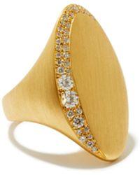 Jade Trau Chevalière en or 18 carats et diamants Adele - Métallisé