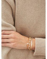 Lizzie Mandler Flat Top Diamond & 18kt Gold Cuff - Metallic