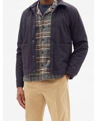 Officine Generale Jonas Check Cotton-flannel Shirt - Gray