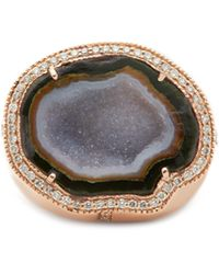 Rosantica Anahata Diamond, Sapphire, Opal & 18kt Gold Ring - Pink