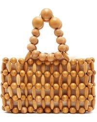 Cult Gaia - Cora Bamboo Beaded Bag - Lyst