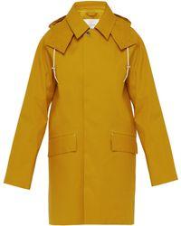 Mackintosh Hooded Bonded Cotton Parka - Yellow