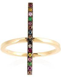 Ileana Makri - Rainbow Stones & Yellow-gold Ring - Lyst
