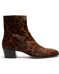 Christian Louboutin - Ziggissimo Pony-hair Chelsea Boot - Lyst