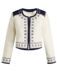 Talitha - Talia Embroidered Cotton Jacket - Lyst