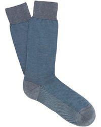 Pantherella - Tewkesbury Birdseye-knit Socks - Lyst