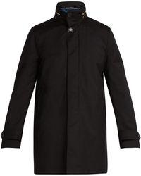 Paul Smith - Manteau en laine à col montant et doublure gilet - Lyst