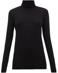Raey Roll-neck Cashmere Jumper - Black