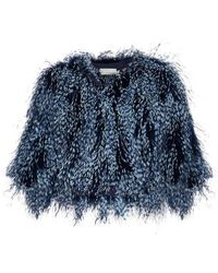 Mary Katrantzou - Spike Feather Cropped Jacket - Lyst
