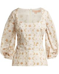 Brock Collection - Orrechino Floral Print Panelled Cotton Top - Lyst