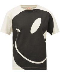 Raf Simons スマイリーフェイス コットンtシャツ - ブラック