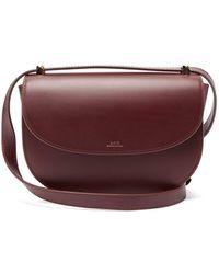 A.P.C. Genève Leather Cross Body Bag - Multicolour