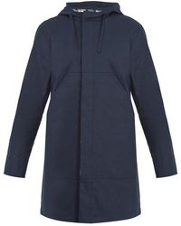 A.P.C. - Park Long-sleeved Hooded Cotton Parka - Lyst