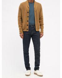 Tom Ford リヨセルコットンtシャツ - ブルー