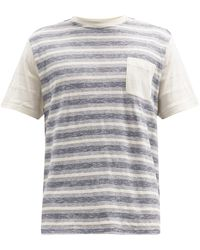 Oliver Spencer ボーダー コットンtシャツ - マルチカラー