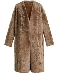Vince - Reversible Shearling Coat - Lyst