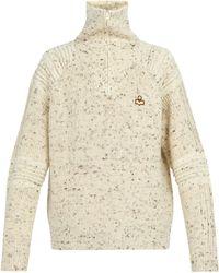 Isabel Marant Lelly Wool Half Zip Jumper - Natural