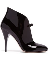 Miu Miu - Patent Leather Ankle Boots - Lyst