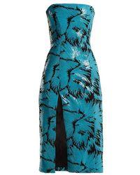 Halpern - Sequined Bustier Midi Dress - Lyst