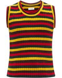 Wales Bonner Brixton Striped Cotton-blend Sleeveless Sweater - Multicolour