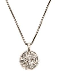 Tom Wood Viking Sterling-silver Coin Pendant - Metallic