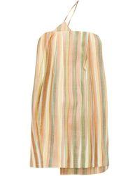 Jacquemus Soleil Striped Slubbed Mini Dress - Multicolor