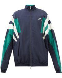 Balenciaga ナイロンシェル トラックジャケット - ブルー