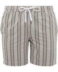 Onia Charles Striped Swim Shorts - Gray