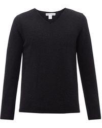 Comme des Garçons Comme Des Garçons Shirt Vネック ウールセーター - ブラック