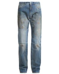 MM6 by Maison Martin Margiela - Marked Straight-leg Jeans - Lyst