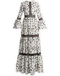 Huishan Zhang - Pouget Petal-appliqué Twill Dress - Lyst