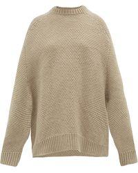 Raey Crew-neck Basketweave Wool Sweater - Natural