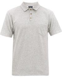 Howlin' Mr Fantasy Terry Cotton-blend Polo Shirt - Grey