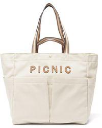Anya Hindmarch ハウスホールド ピクニック キャンバストートバッグ - ナチュラル