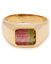 Jacquie Aiche - Tourmaline Signet Ring - Lyst