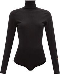 Victoria Beckham メリノウール タートルネックボディスーツ - ブラック
