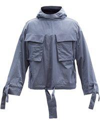 Sasquatchfabrix Veste à capuche à imprimé Kirigami - Bleu