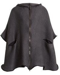 Charli Cohen - On The Qt Quilted Wool-blend Poncho - Lyst
