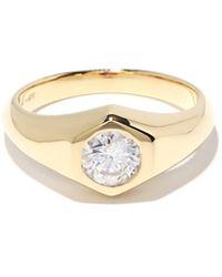 Lizzie Mandler エイプリル ダイヤモンド 18kゴールドシグネットリング - マルチカラー